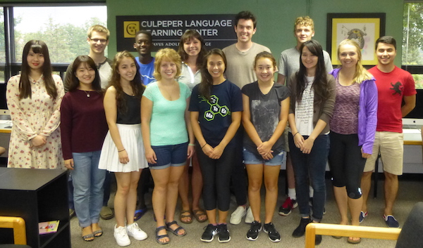 Photo of Many of the Fall 2016 Language Tutors