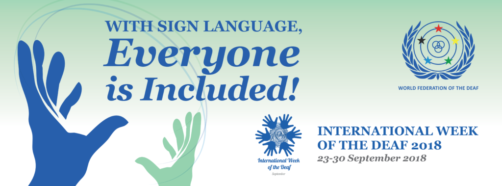 International Week of the Deaf